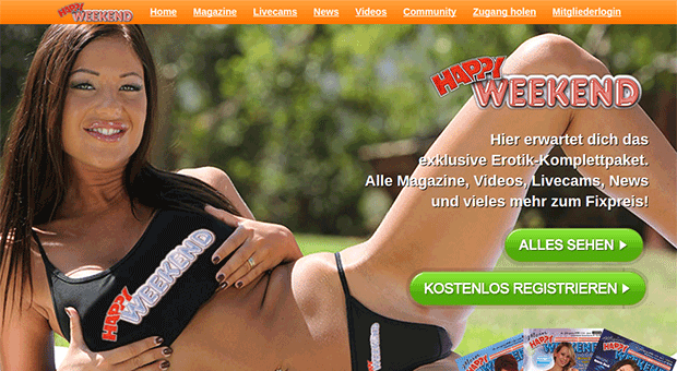 Happy Weekend, Community, Magazine, Videos, Kostenlose Livecams, News, DAS Online Portal